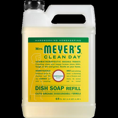 mrs meyers honeysuckle dish soap refill