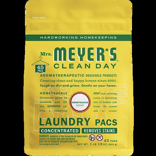 mrs meyers honeysuckle laundry packs