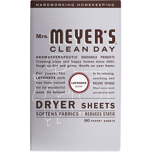 mrs meyers lavender dryer sheets