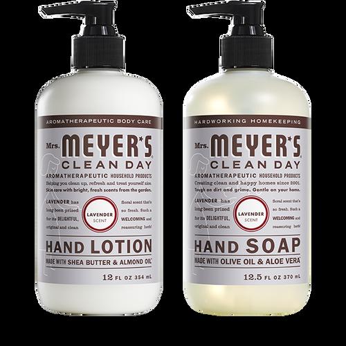mrs meyers lavender hand care basics set