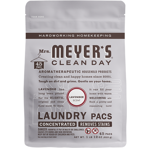 mrs meyers lavender laundry packs