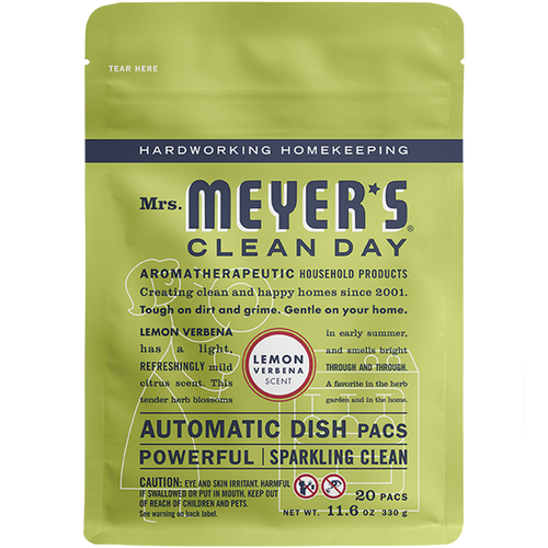 mrs meyers lemon verbena automatic dish packs