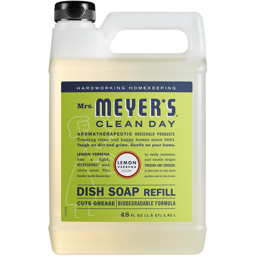mrs meyers lemon verbena dish soap refill