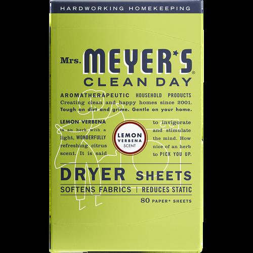 mrs meyers lemon verbena dryer sheets