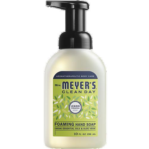 mrs meyers lemon verbena foaming hand soap