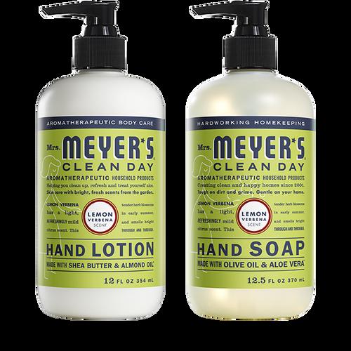 mrs meyers lemon verbena hand care basics set