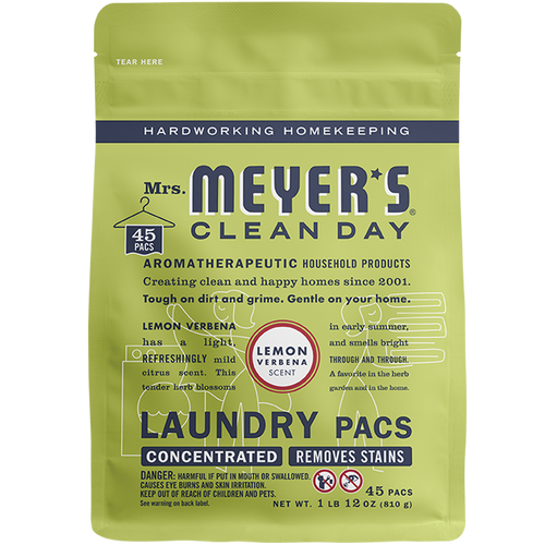 mrs meyers lemon verbena laundry packs