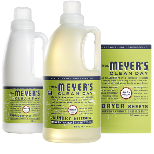 mrs meyers lemon verbena laundry set