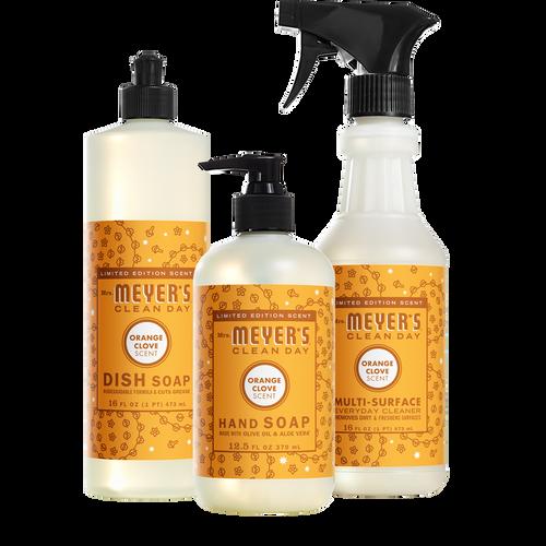 mrs meyers orange clove kitchen basics set