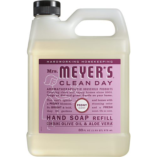 mrs meyers peony liquid hand soap refill
