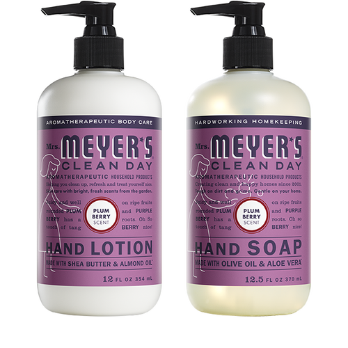 mrs meyers plum berry hand care basics set