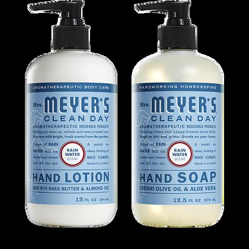 mrs meyers rain water hand care basics set