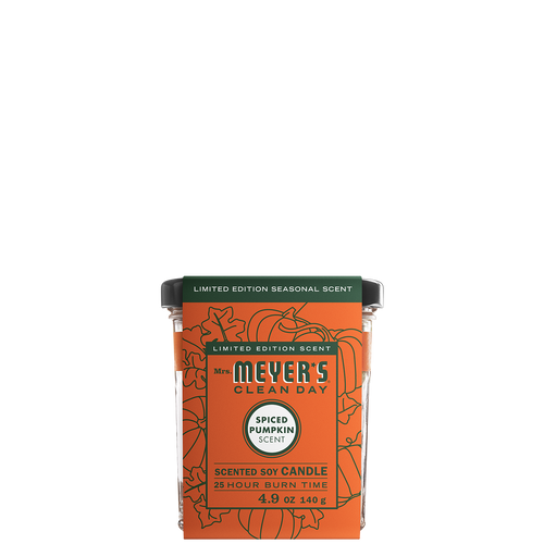 mrs meyers spiced pumpkin soy candle small sleeve