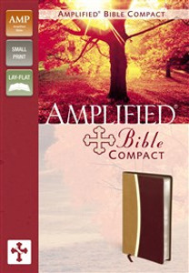 Amplified Bible, Compact, Imitation Leather, Tan/Burgundy - ISBN: 9780310439332