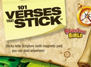 101 Verses that Stick for Kids based on the NIV Adventure Bible - ISBN: 9780310728993
