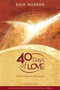 40 Days of Love Video Study Guide - ISBN: 9780310326878