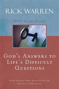 God's Answers to Life's Difficult Questions Study Guide - ISBN: 9780310326922