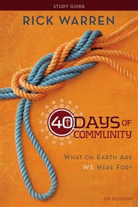 40 Days of Community Study Guide - ISBN: 9780310689119