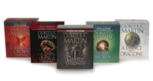 George R. R. Martin Song of Ice and Fire Audiobook Bundle: A Game of Thrones (HBO Tie-in), A Clash of Kings (HBO Tie-in), A Storm of Swords A Feast for Crows, and A Dance with Dragons (AudioBook) (CD) - ISBN: 9780739352960