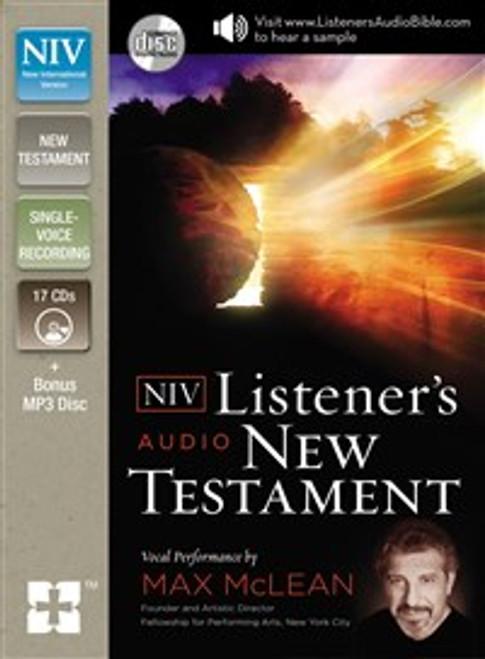 NIV, Listener's Audio Bible, New Testament, Audio CD - ISBN: 9780310444367