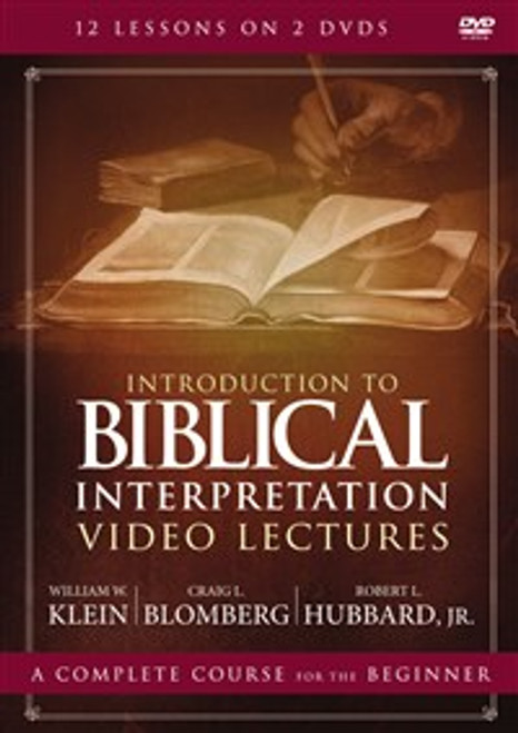 Introduction to Biblical Interpretation Video Lectures - ISBN: 9780310535966