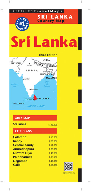 Sri Lanka Travel Map Third Edition:  - ISBN: 9780794606039