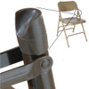 "Stabilizer Cap V-Tips for Metal and Padded Folding Chairs (100 Pack) - Fits 7/8"" OD Tube, Top of Leg"