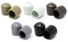 """100 pk. Non-Marring Plastic Foot Cap Glides for Rental Style Plastic Folding Chairs, Fits 3/4"""" OD Tube"""