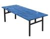 Swirl Banquet Aluminum Folding Table-Bahama Blue