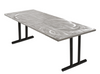 Swirl Banquet Aluminum Folding Table-Satin