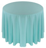 Solid Polyester Tablecloth Linen-Aqua