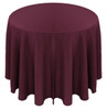Solid Polyester Tablecloth Linen-Aubergine