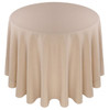 Solid Polyester Tablecloth Linen-Beige