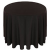 Solid Polyester Tablecloth Linen-Black