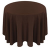Solid Polyester Tablecloth Linen-Brown