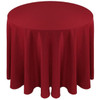 Solid Polyester Tablecloth Linen-Cherry Red