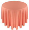 Solid Polyester Tablecloth Linen-Coral