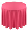 Solid Polyester Tablecloth Linen-Fuchsia