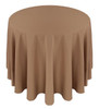 Solid Polyester Tablecloth Linen-Khaki