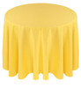 Solid Polyester Tablecloth Linen-Lemon