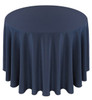 Solid Polyester Tablecloth Linen-Navy
