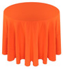Solid Polyester Tablecloth Linen-Neon Orange