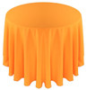 Solid Polyester Tablecloth Linen-Neon Tangerine