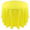 Solid Polyester Tablecloth Linen-Neon Yellow