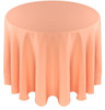 Solid Polyester Tablecloth Linen-Peach