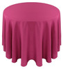 Solid Polyester Tablecloth Linen-Raspberry