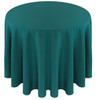 Solid Polyester Tablecloth Linen-Teal