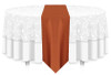 Solid Polyester Table Runner Linen-Copper