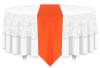 Solid Polyester Table Runner Linen-Neon Orange