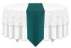 Solid Polyester Table Runner Linen-Teal